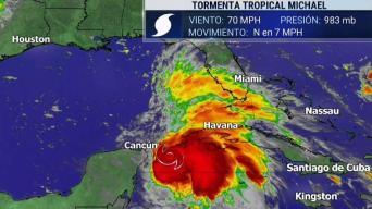 La tormenta tropical Michael avanza hacia el Golfo