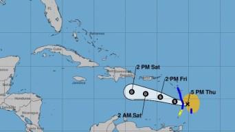 Tormenta tropical Kirk se acerca a las Antillas Menores