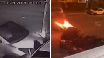 """Oye, va a explotar"": mortal choque queda en video"