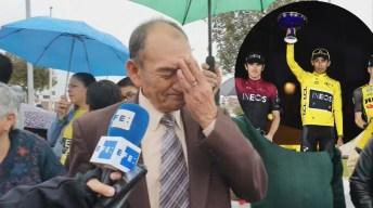 Rompe en llanto tras ver a su nieto ganar el Tour de Francia