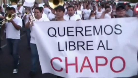 """Investigan marcha a favor de """"El Chapo"""""""
