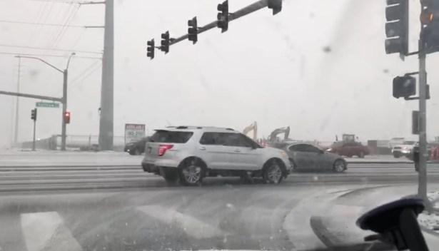 Tras más de una década, nieve en casi todas Las Vegas