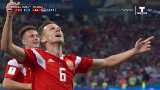 [World Cup 2018 PUBLISHED] ¡Gol! Estalla en festejo el estadio Fishtcon golazo de Denis Cheryshev
