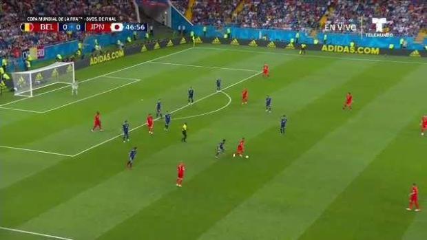 Japón sorprende y marca primero ante Bélgica