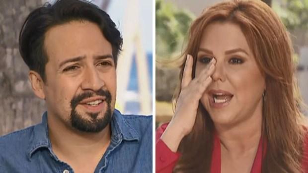 María Celeste llora en plena entrevista con Lin-Manuel