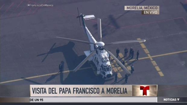 [TLMD - MIA] Michoacan recibe al Papa con la danza de los viejitos