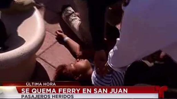 Mujer se desmaya tras salir del crucero incendiado