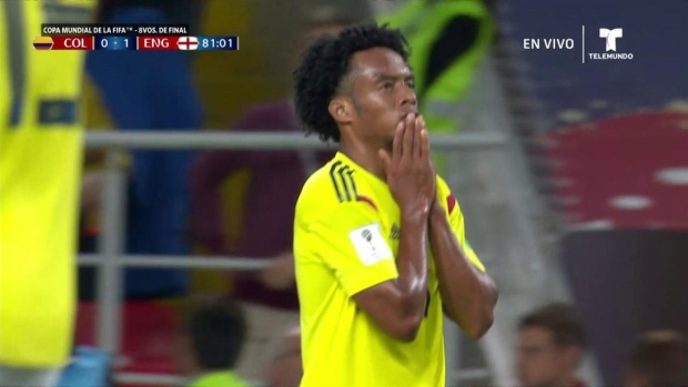 [World Cup 2018 published] Juan Cuadrado se pierde el gol de su vida ante Inglaterra