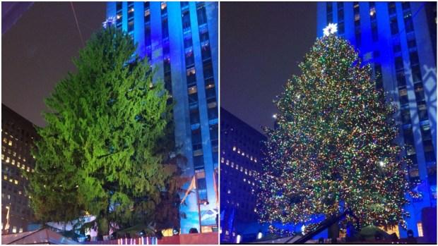 Fotos del árbol navideño de Nueva York 2017