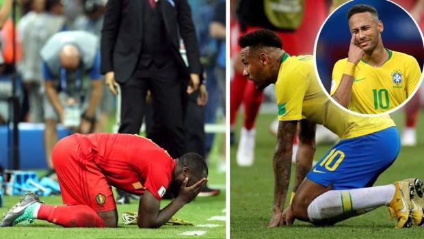 """De rodillas Neymar y su """"verdugo"""", el drama verdadero"""