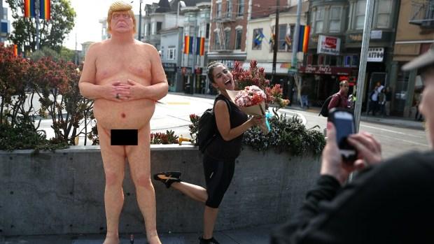 Trump desnudo, las estatuas que quizás no vuelvas a ver