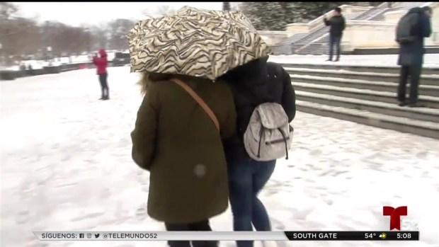 [TLMD - MIA] Tormenta invernal causa demoras en partes de EEUU