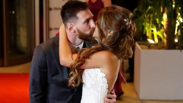 Lionel Messi y Antonella Roccuzzo ya son marido y mujer