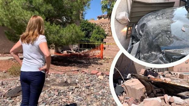 [TLMD - LV] Cinco vehículos han chocado con la propiedad de familia en Henderson