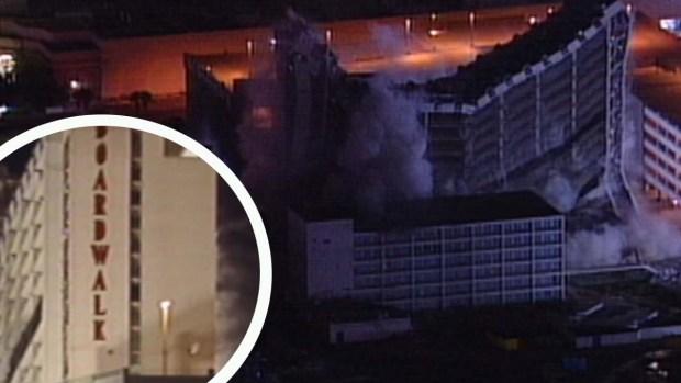 Implosión del hotel y casino Boardwalk