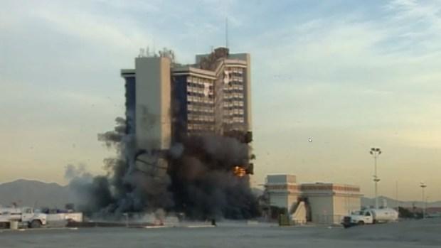 Implosión del hotel y casino Castaways