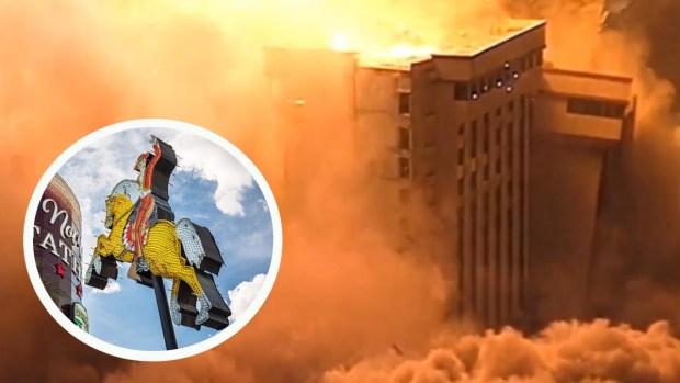 Implosión del hotel y casino Hacienda