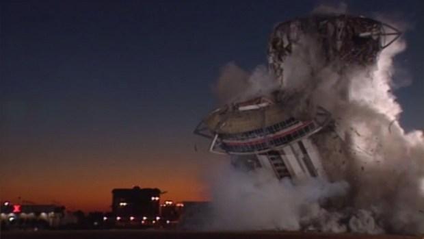 Implosión del hotel y casino Landmark