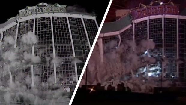 Implosión del hotel y casino New Frontier