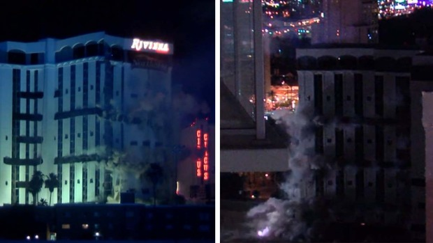 Implosión del hotel y casino Riviera