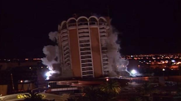 Implosión del hotel y casino Sands