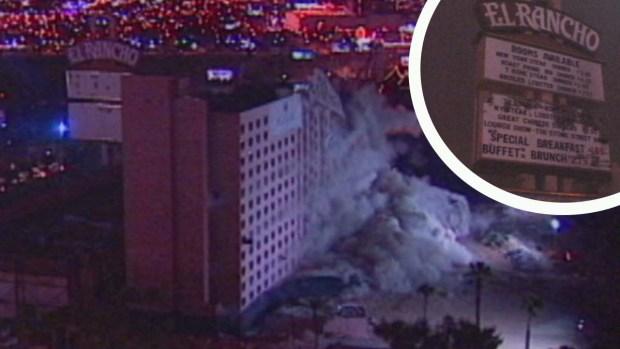 Implosión del hotel y casino El Rancho