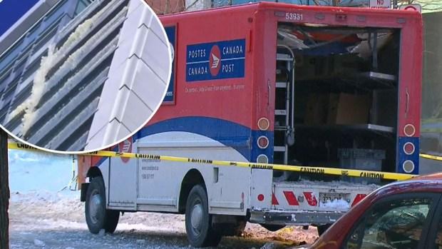 [TLMD - NATL] Pedazo de hielo cae de un piso 40 y casi mata a empleado del correo