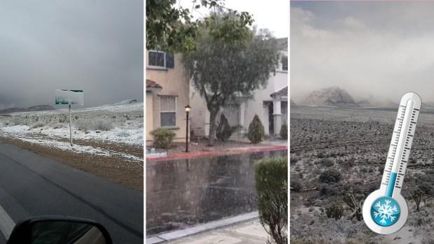 Fotos: la nieve llega a Las Vegas tras casi 10 años