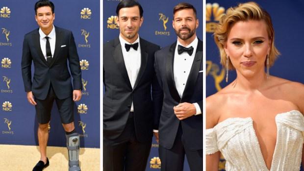 Ricky Martin va con su esposo y Mario López con una pierna rota: lo mejor de los Emmy