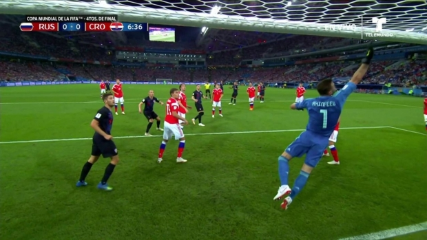 [World Cup 2018 PUBLISHED] Ante Rebić avisa con un balón apenas desviado tras tiro de esquina