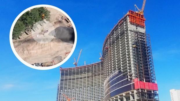 [TLMD - LV] Bomberos realizan rescate de altura en el Strip