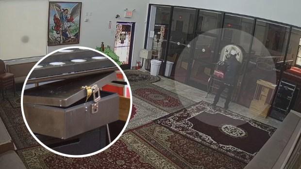 [TLMD - LV] Captado en video cómo se roba limosna de iglesia