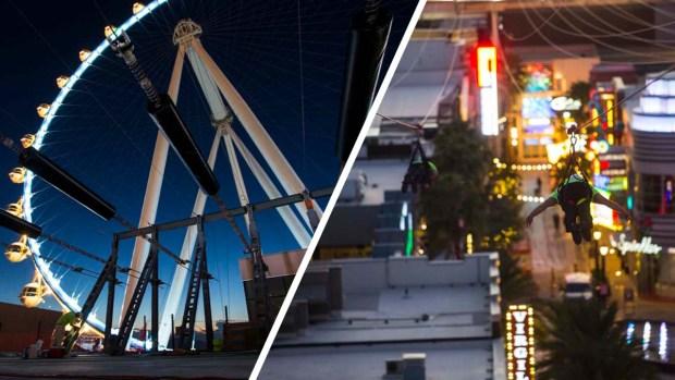 Fly Linq: primera y única tirolesa en el Strip de Las Vegas