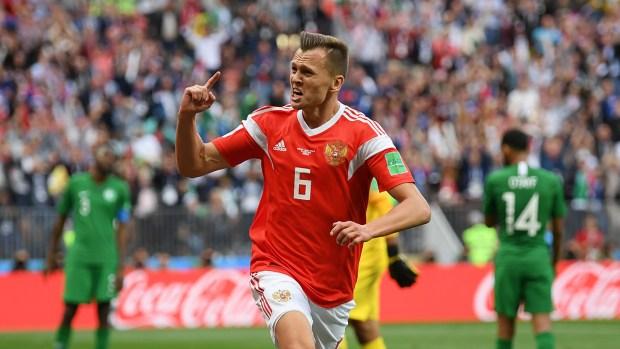[World Cup 2018 PUBLISHED] Golazo de Denis Cheryshev para Rusia
