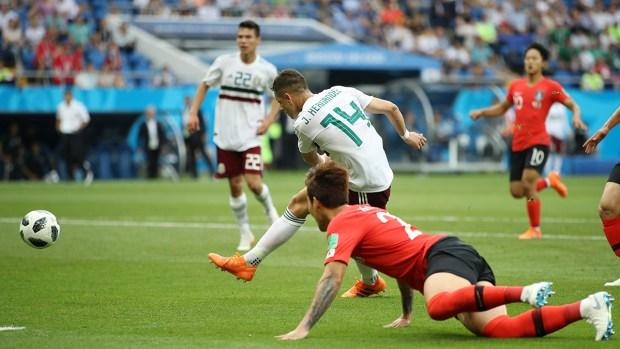 [World Cup 2018 PUBLISHED] ¡Golazo! Chicharito pone a México arriba en la Copa Mundial