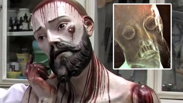 Video: Cristo con dientes asombra a México