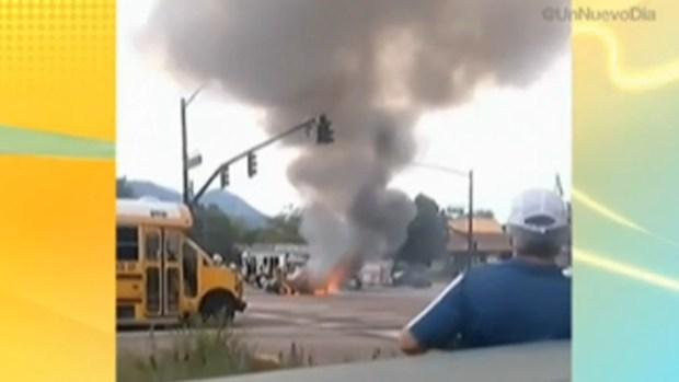 Video: Impresionante explosión de un auto