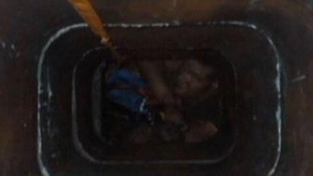 Video: Ladrón quedó atrapado en chimenea