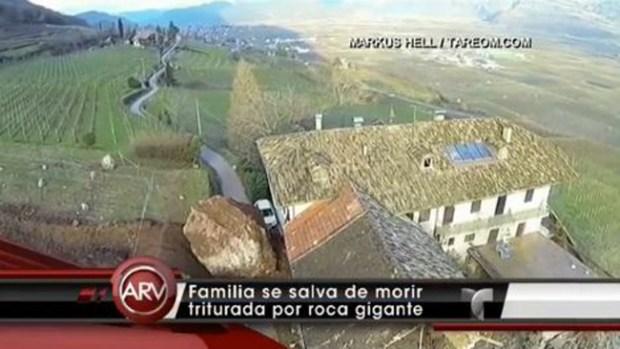 Video: Gigantesca piedra casi tritura casa