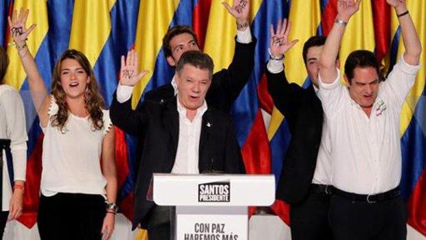 Video: Santos gana la reelección en Colombia