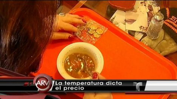 Video: Clima determina precio de la sopa