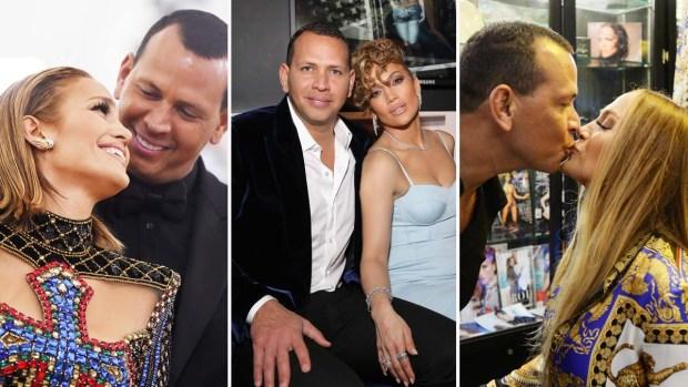 J. Lo y A-Rod: los primeros años de su relación de amor en fotos
