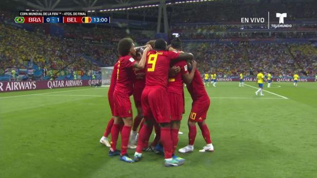 [World Cup 2018 PUBLISHED] Autogol de Fernandinho para abrir el marcador a favor de Bélgica