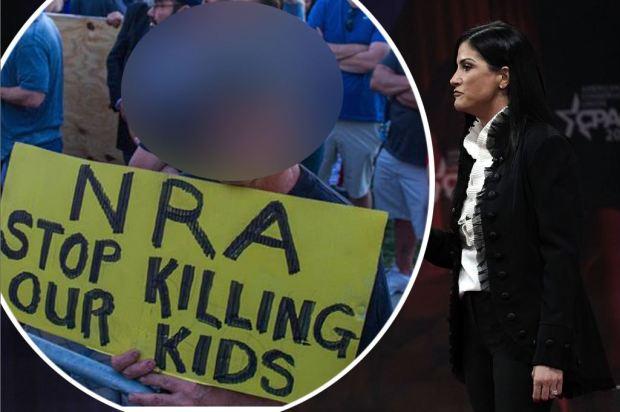 """En defensa de las armas, mira a quién le """"dispara"""" la vocera de la NRA"""