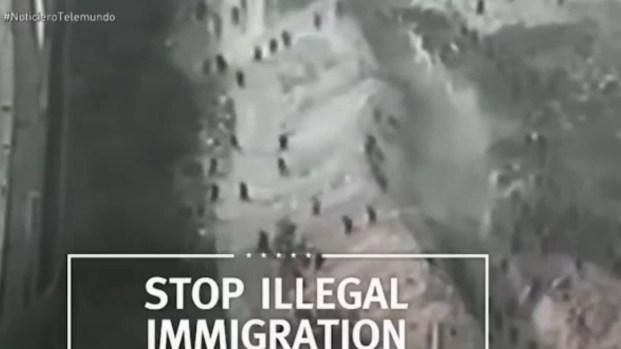 Trump representa frontera sur con video de otro lugar