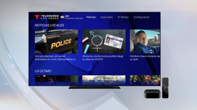 Aplicación de Telemundo Las Vegas llega a tu Apple TV