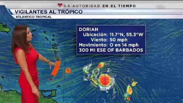 Dorian continúa su trayecto al arco de las Antillas