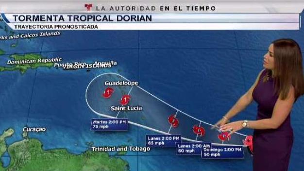 Dorian podría pasar por el sur de Puerto Rico como huracán categoría 1