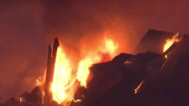 Incendio desastroso en el este del Las Vegas Strip
