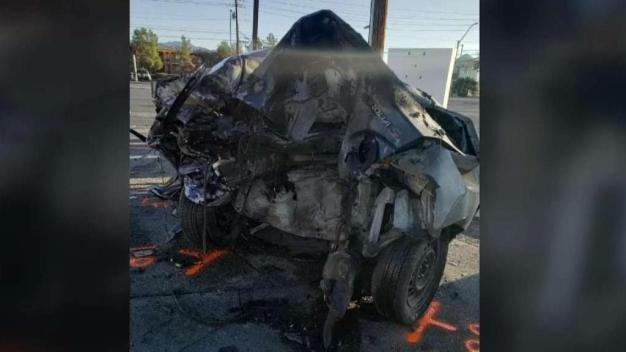 Policía de Las Vegas investiga un violento accidente